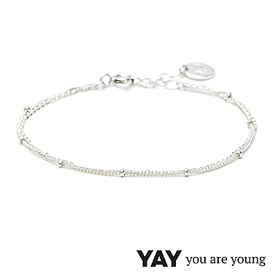 YAY You Are Young 法國品牌 Stella 簡約手鍊 925純銀