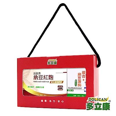 多立康 養生活益禮盒-活益清+銀杏(2入組)