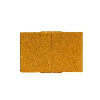 GIORGIO FEDON 1919 高級皮面輕鋁硬殼名片夾 蜂蜜