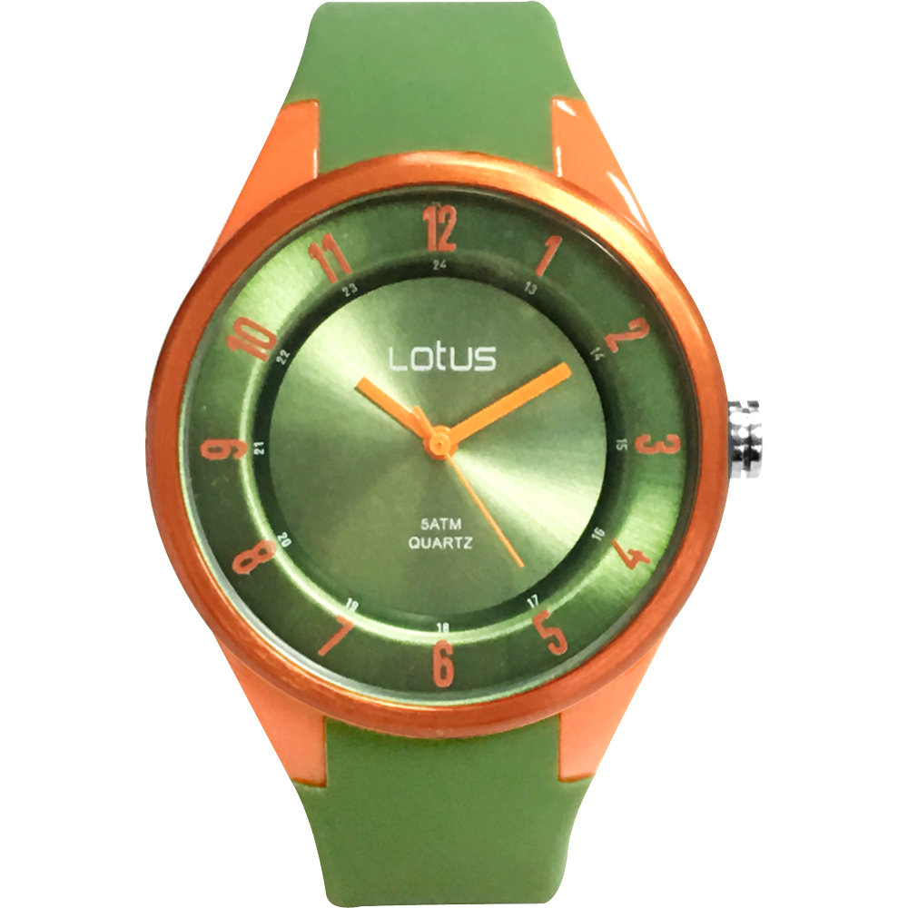 Lotus 亮色潮流 立體指針休閒錶(TP2117M-04)-橄欖綠/39mm