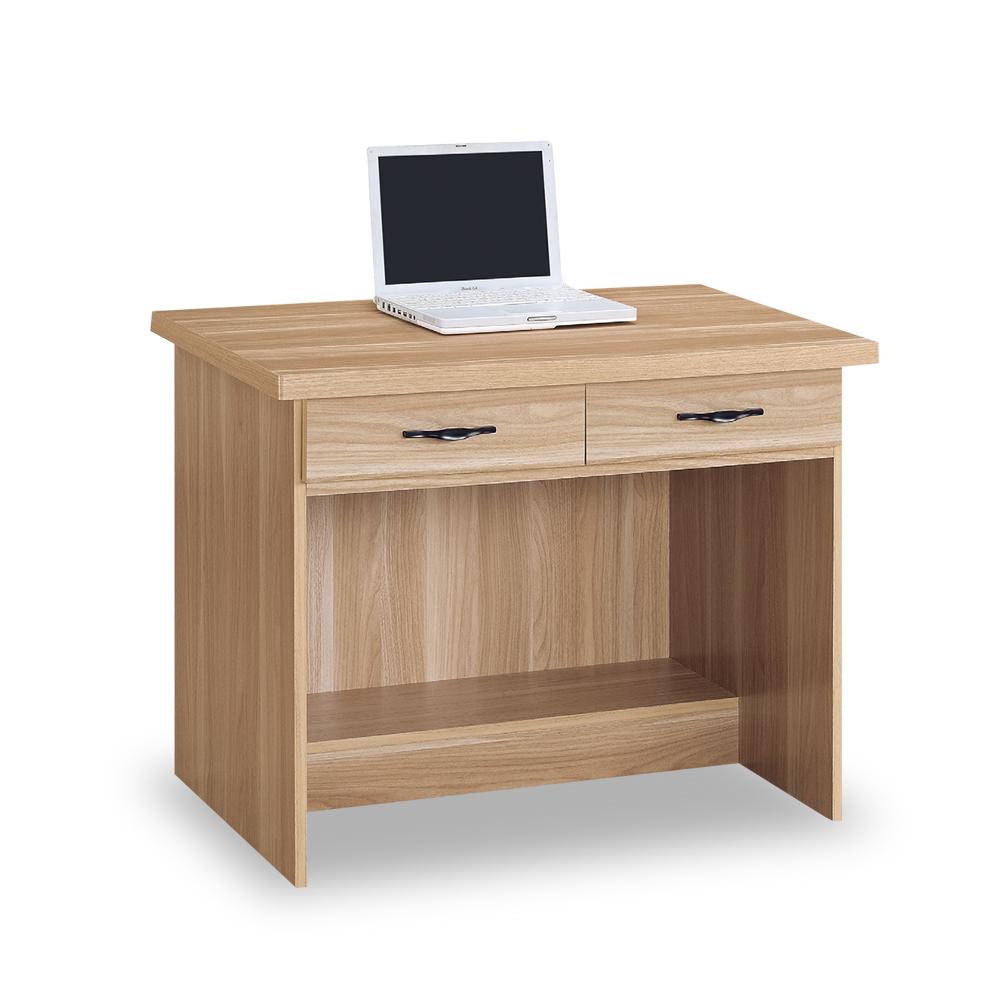 時尚屋 原切浮雕3尺二抽書桌  寬90x深58.5x高74cm
