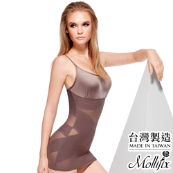 Mollifix Double X牛仔肚 強效收納塑身衣 (咖金)