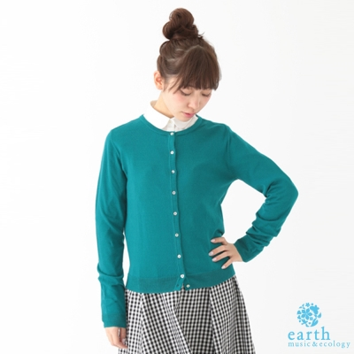 earth music&ecology 定番繽紛開襟罩衫