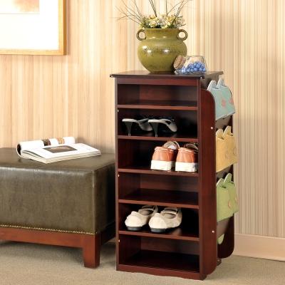 Asllie 唐恩鞋叉櫃/鞋櫃-咖啡色-35.5x26x73cm