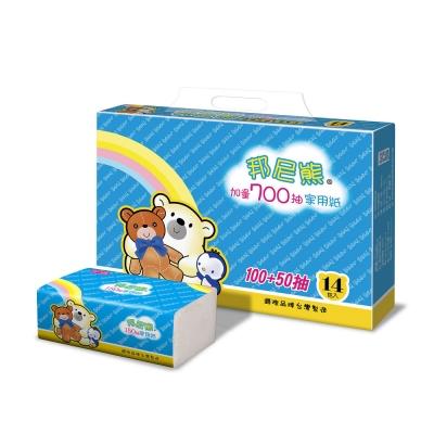 Benibear邦尼熊抽取式花紋家用紙150抽84包/箱x2