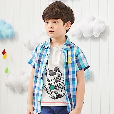 Disney 米奇系列剪接襯衫 (2色可選)