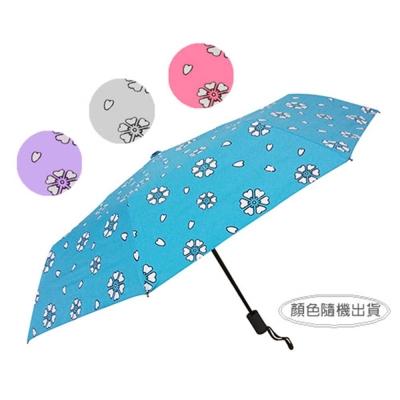 低透光遇水開花黑膠自動傘(UMB378)