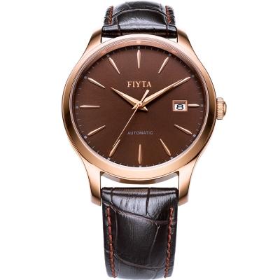 FIYTA飛亞達 經典系列復古機械錶款(WGA1010.PSR)-棕色/40mm