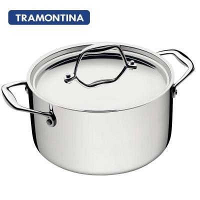 TRAMONTINA-Gourmet-TRIX-系列20公分雙耳湯鍋3-5L