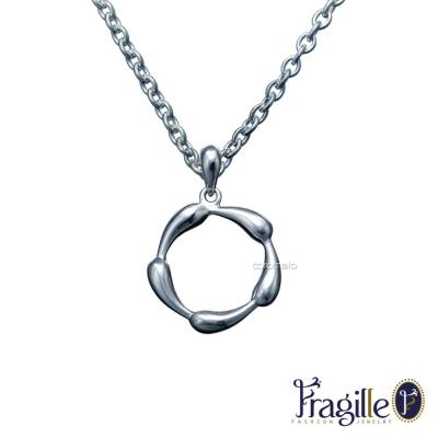 彩糖鑽工坊 Teardrops銀項鍊 Fragille 系列