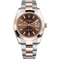 ROLEX 勞力士126301蠔式恆動系列Datejust腕錶-巧克力/41mm