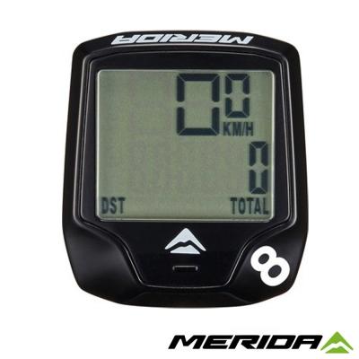 《MERIDA》美利達 有線碼表 8功能 黑 1105