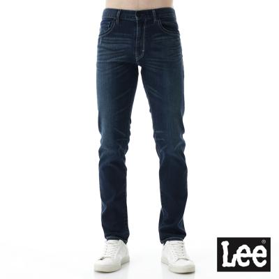 Lee 牛仔褲 726中腰舒適刷色小直筒牛仔褲/UR  男款 深藍色