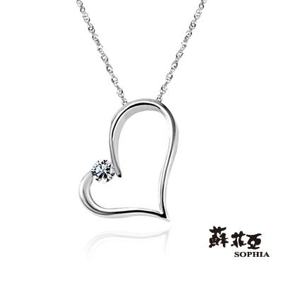 蘇菲亞SOPHIA 鑽石項鍊-甜心0.07克拉鑽鍊