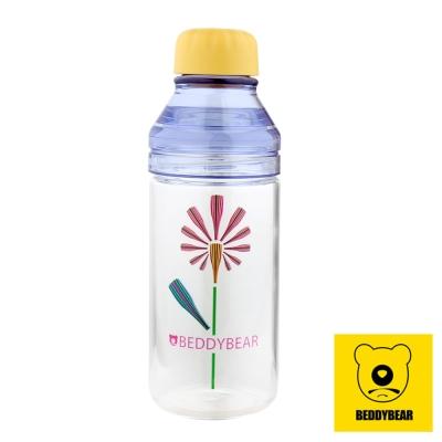 韓國BEDDY BEAR 炫彩花漾玻璃隨身瓶480ML附提袋(蒲公英)