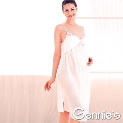 Gennies奇妮-絲亮光連身襯裙-產前產後-A5