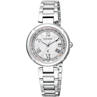 xC 我的小幸運 光動能鈦電波時尚腕錶(EC1110-52A)-銀/28mm