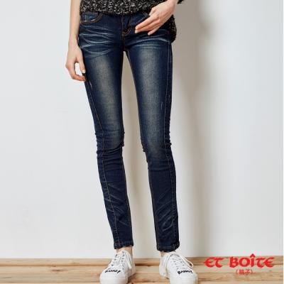 ETBOITE 箱子 BLUE WAY 激瘦3D修身剪裁繩股窄直筒褲-3色