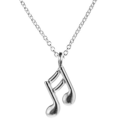 Dogeared 音符 雙邊款 銀色許願項鍊 Make Music 幸福樂章 附原廠盒