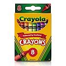 美國 Crayola繪兒樂 彩色蠟筆8色(3Y+)