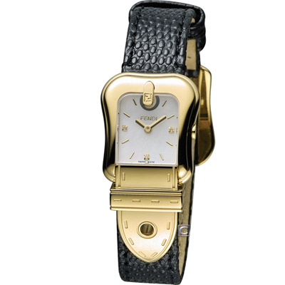 FENDI B.Fendi 完美時尚腕錶-黑x金/白面/24x32mm