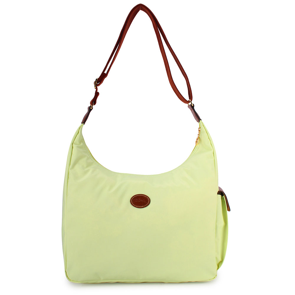 Longchamp 豔彩繽紛大斜背包-粉綠色LONGCHAMP