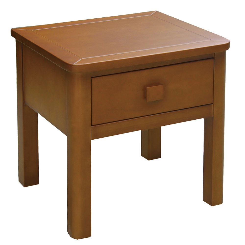 AT HOME - 馬克柚木床頭櫃 50x45x50cm