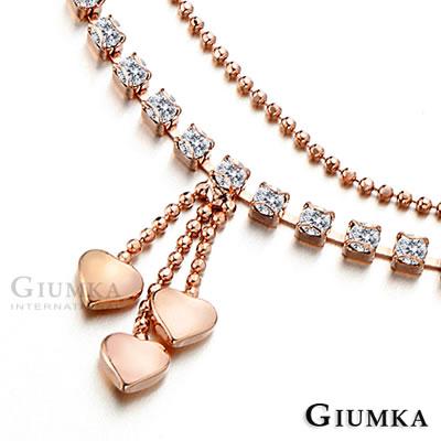GIUMKA 流心物語 腳鍊-玫瑰金