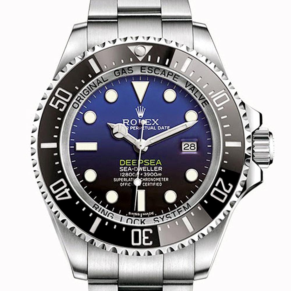 ROLEX 勞力士116660 BLUE 藍色漸層海使腕錶-漸層藍水鬼/44mm