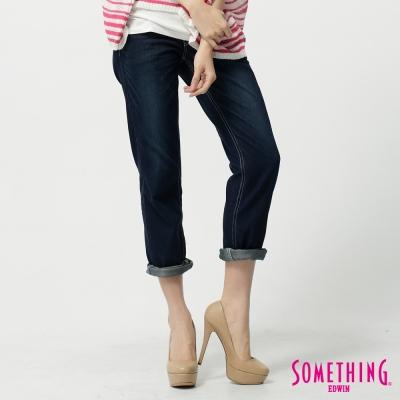 SOMETHING NATURAL涼感小垮褲-女-原藍磨