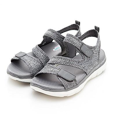 SKECHERS(女)時尚休閒系列Flex Appeal2.0涼鞋-39075GRY
