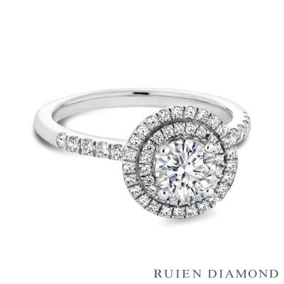 RUIEN DIAMOND GIA50分 D VVS2 3EX 18K白金鑽石戒指