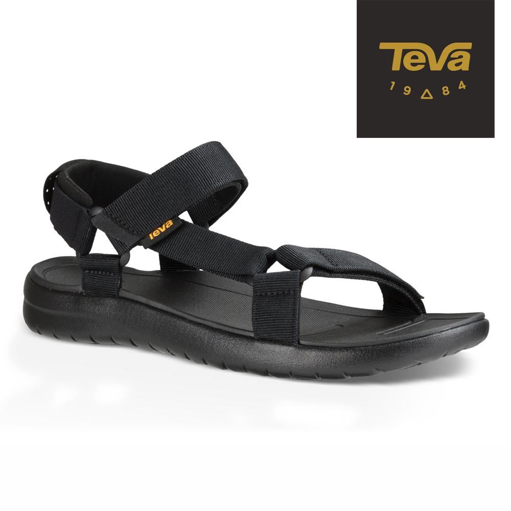 TEVA 美國 男 Sanborn Universal 輕量織帶涼鞋 (黑)