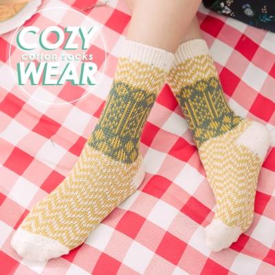 蒂巴蕾 COZY WEAR 雙針棉襪-蘇格蘭