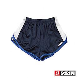 SASAKI 吸濕排汗田徑短褲-男-丈青/白