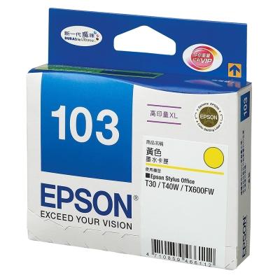 EPSON NO.103 黃色高容量 XL 墨水匣(T103450)