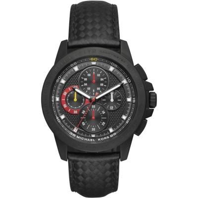 MICHAEL KORS 飛躍世界三眼計時手錶-黑/43mm