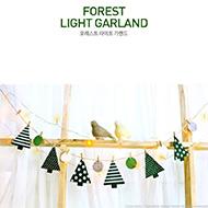 不織布聖誕樹/木夾+旗幟款