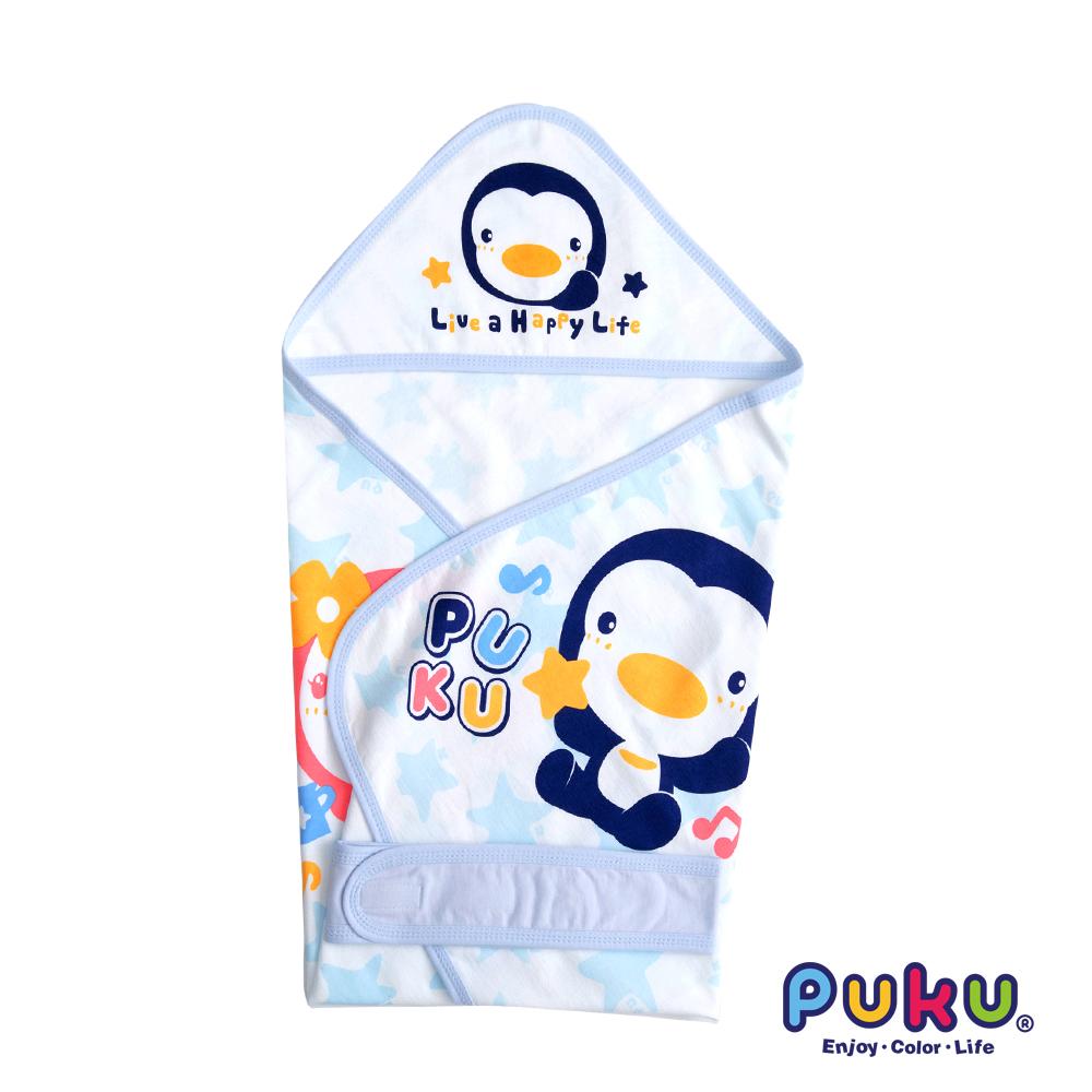 PUKU藍色企鵝 單層包巾(春夏)-尺寸F