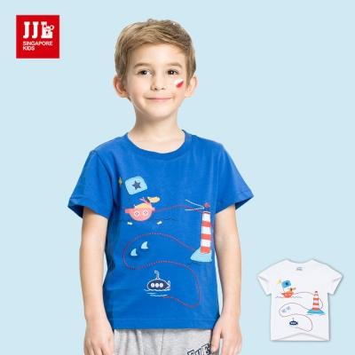 JJLKIDS 狗狗的冒險旅行印花T恤(2色)