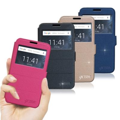VXTRA Nokia 5 5.2吋 經典金莎紋 商務視窗皮套