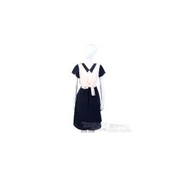 San Andres 藍白拼接綁帶短袖洋裝