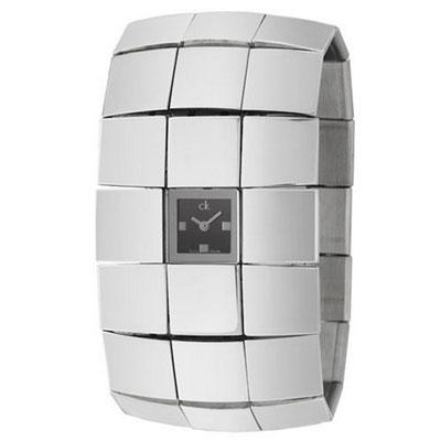 cK Disco 搖滾龐克手環式腕錶-黑/38mm