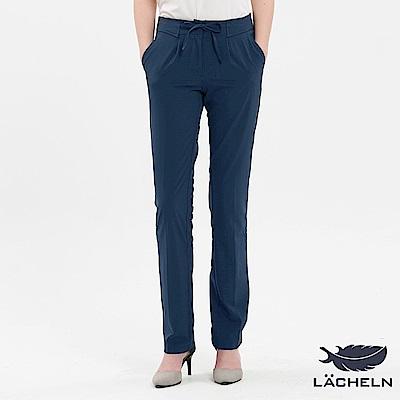 【LACHELN】造型腰頭快乾防曬綁帶休閒長褲(L72W719)