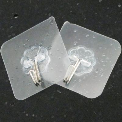 6cm透明加強款免釘可水洗重複貼強力無痕掛勾超值12入TR12(隨機出貨)