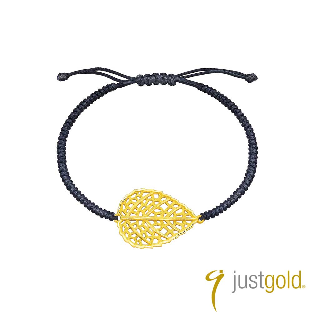 鎮金店Just Gold 金葉良緣純金系列 黃金手鍊(手繩)