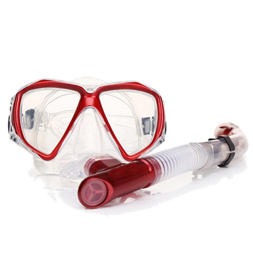 韓國熱銷 強化抗霧玻璃潛水精品組/潛水鏡/呼吸管/浮潛/衝浪 五色任選 product image 1