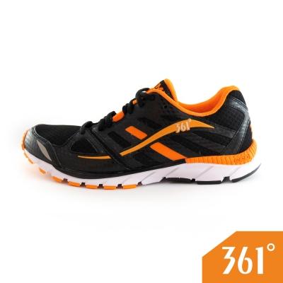 361男運動常規慢跑鞋-黑/橘