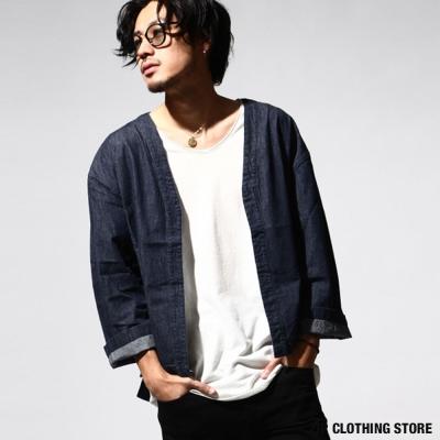 丹寧和風開襟外套 ZIP日本男裝