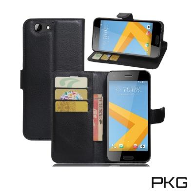 PKG HTC A9S 側翻式皮套經典皮革系列-黑色